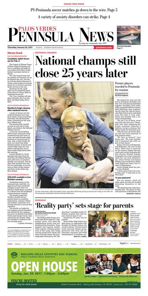 Peninsula News   January 26, 2017