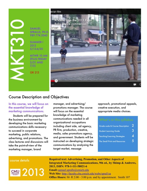 MKT310 Syllabus Summer I 2013