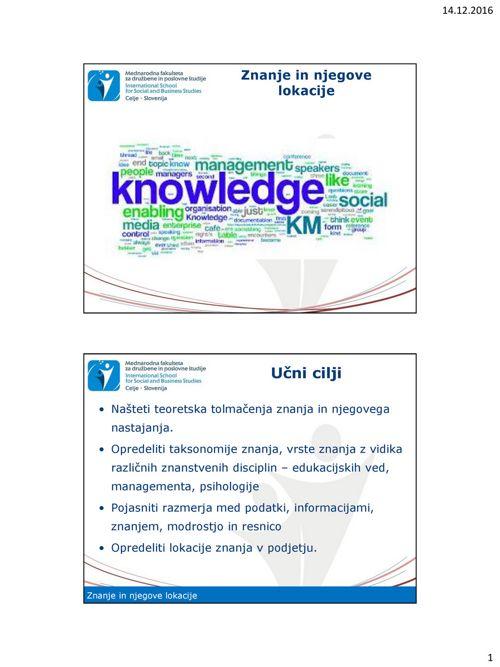 Predavanje SMZ_3_Znanje