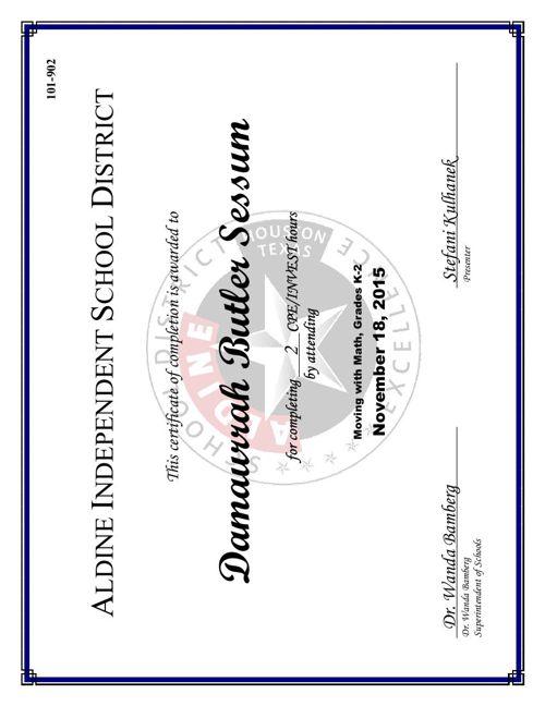 Professional Development Certificates