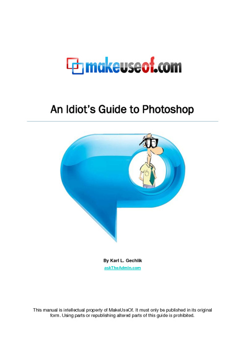 Idiots guide to photoshop
