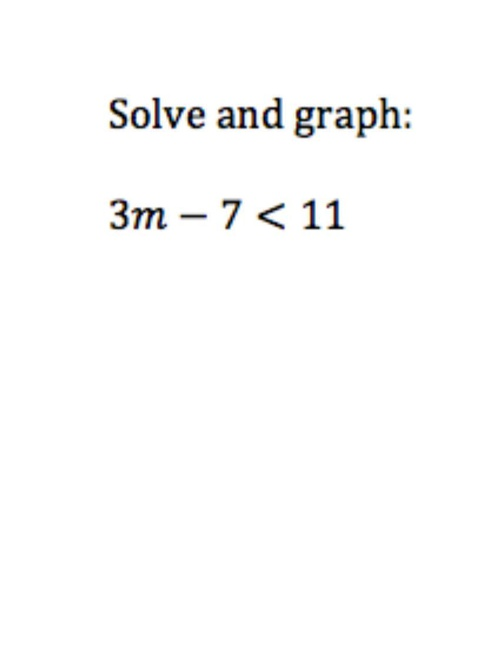 Solve and Graph a Two-Step Inequality