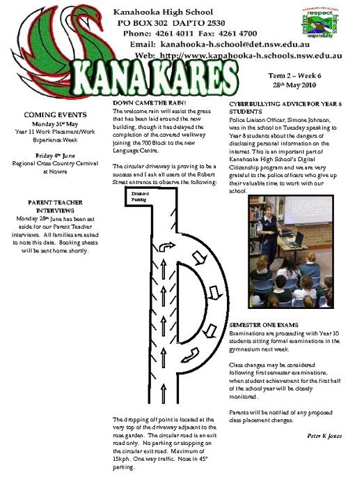 Kanahooka Newletters 2010