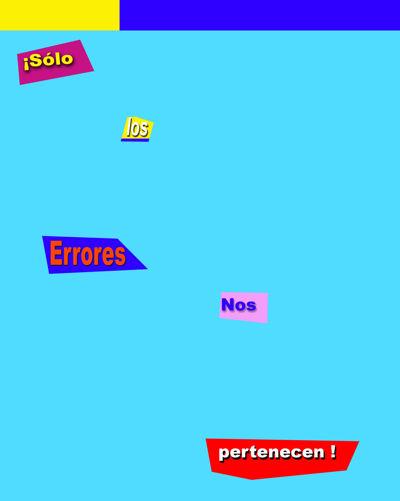 Sólo los errores nos pertenecen, Emanuel Tovar, 2014 Ed.Lázaro