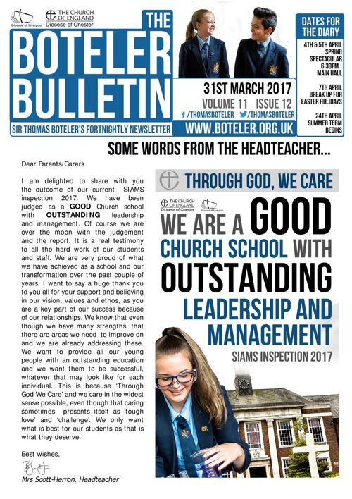 Boteler Bulletin 31st March 2017