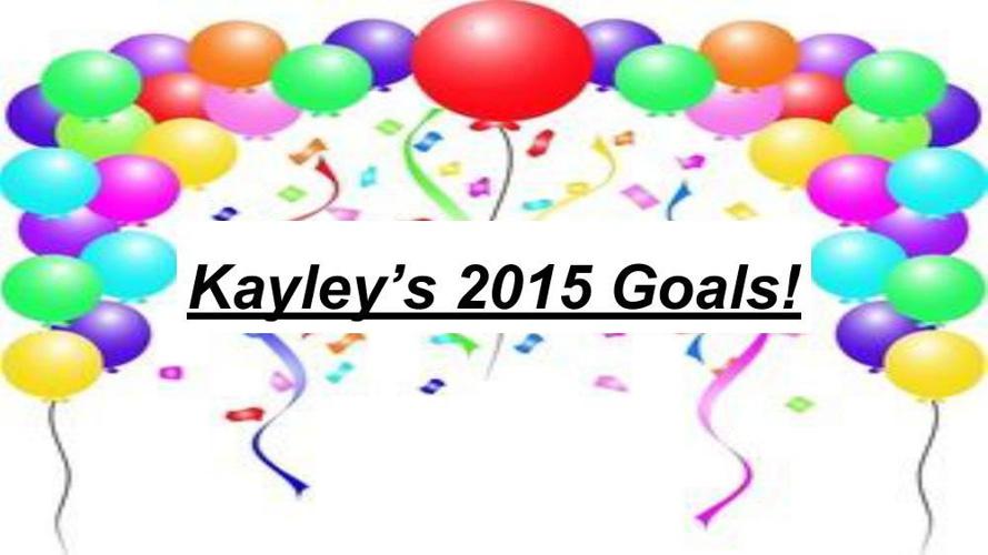 My 2015 Goal