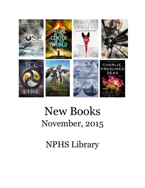 New Books November, 2015
