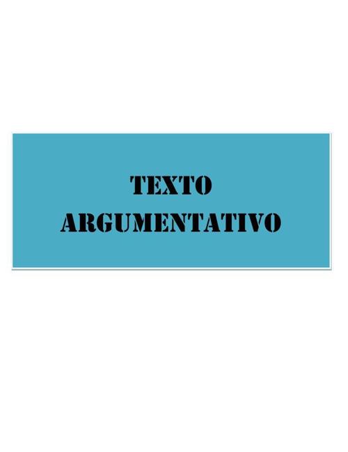 Redacción argumentativa
