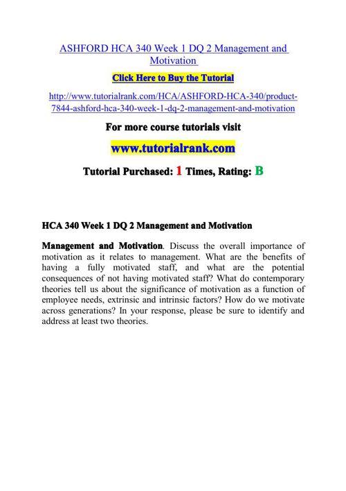 HCA 340 Potential Instructors / tutorialrank.com