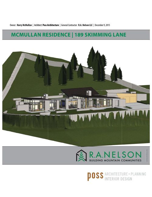 RA NELSON - McMULLAN RESIDENCE