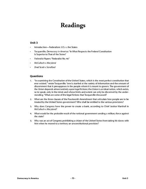 Unit 1: Federalism: U.S. v. the States