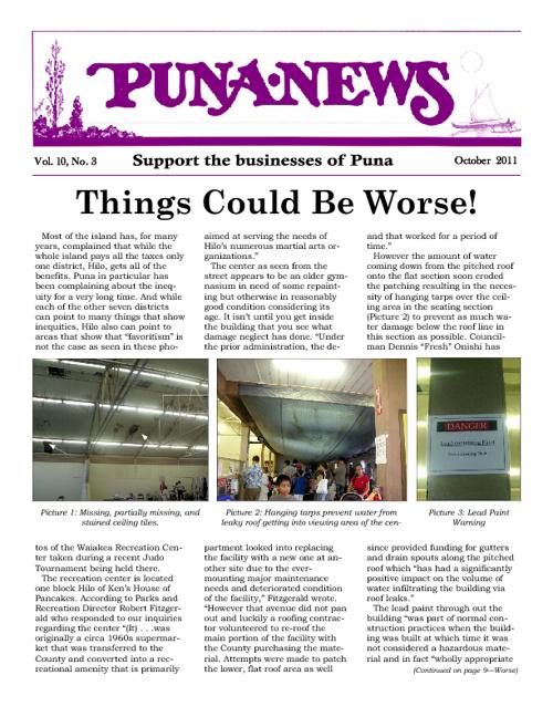 Puna News October 2011