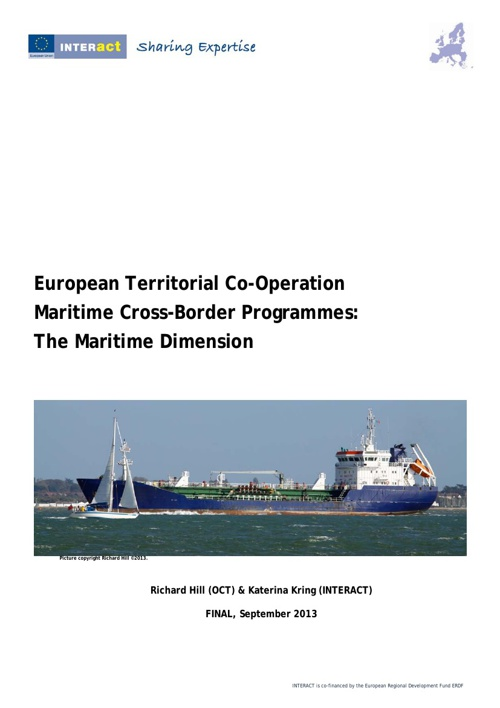 Maritime Cross-Border Programmes:  The Maritime Dimension