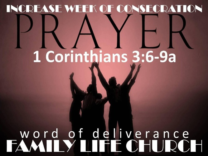 2013 Week of Consecration-July
