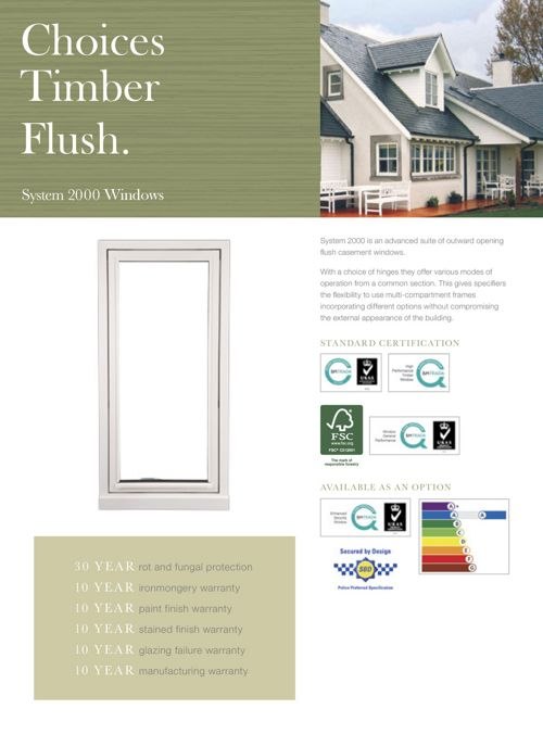 Timber Flush (System 2000)