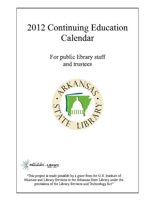 Continuing Education Calendar 2012