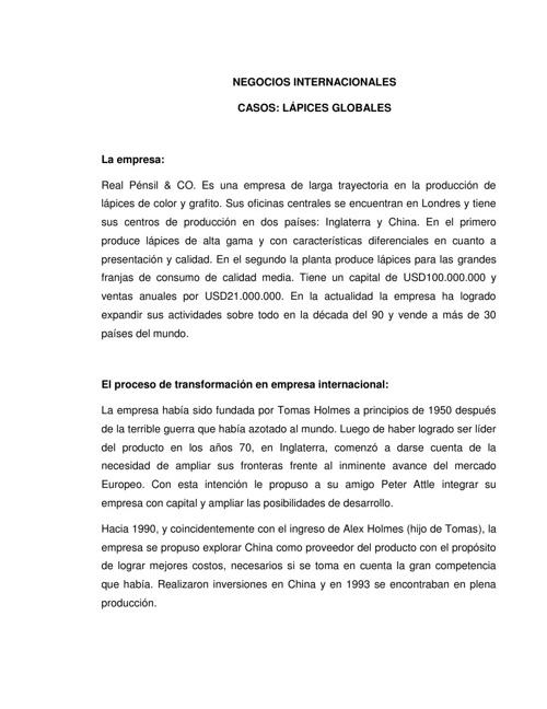 ANALISIS CASO DE LOS LAPICES