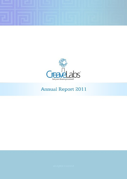 CreaveLabs Annual Report 2011
