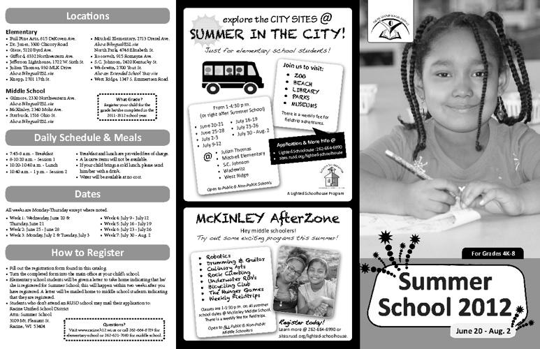 Summer School 2012 Catalog