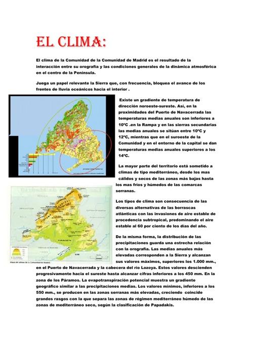 Clima y biodiversidad en la Comunidad de Madrid