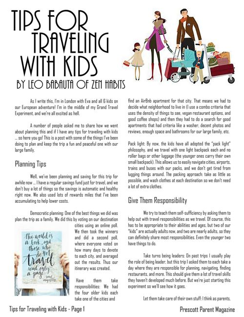 Tips for Traveling with Kids - Prescott Parent Magazine