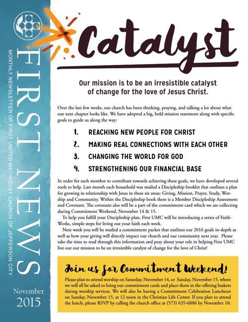 November Newsletter from First United Methodist Church