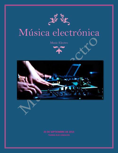 Música electrónica Thania