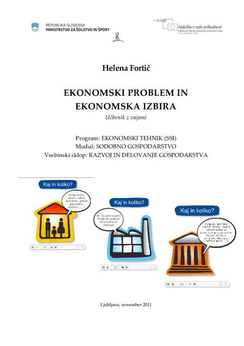 Ekonomski problem in ekonomska izbira_Fortic_UnisVET_2011