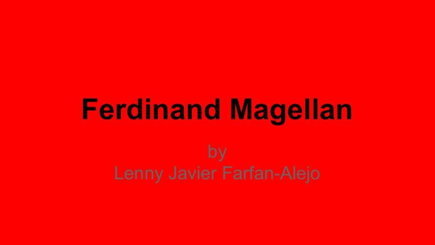 Ferdniand Magellan