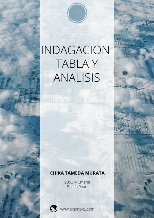 INDAGACIÓN, TABLA Y ANÁLISIS DEL PROYECTO