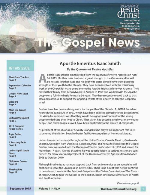 Gospel News September 2015
