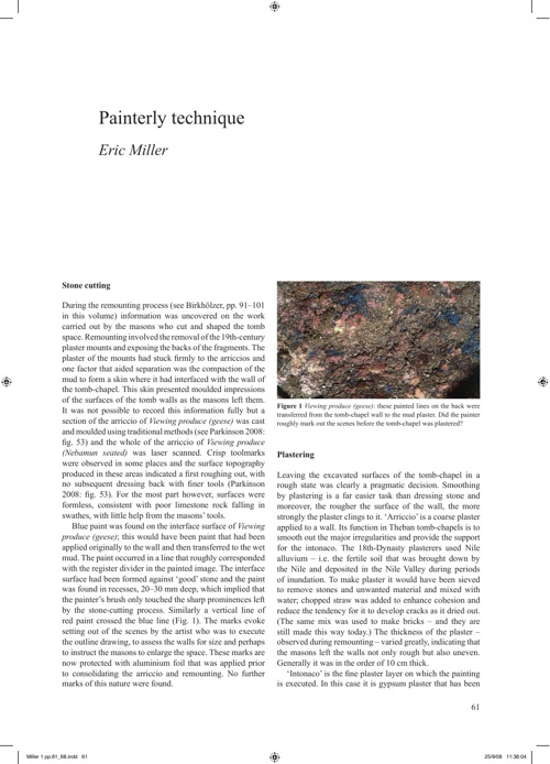 The Nebamun Wall Paintings : Conservation, Scientific Analysis a