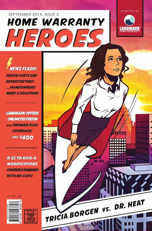 Tricia Borgen - Home Warranty Heroes Comic Book