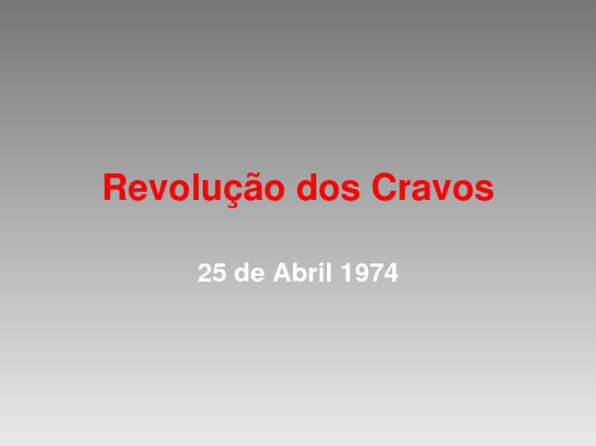 revoluçao do cravos