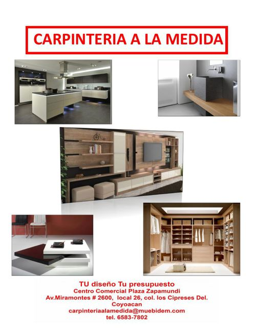 CATALOGO CARPINTERIA A LA MEDIDA