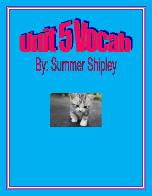 Summer's Vocab