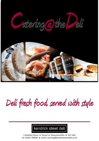Catering @ the Deli Brochure