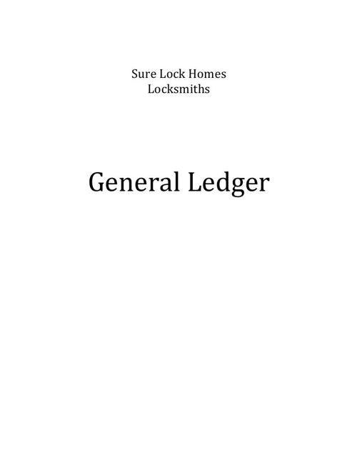 Sure Lock Homes - Sample ledger