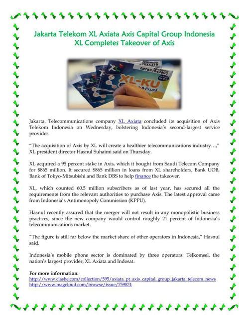 Jakarta Telekom XL Axiata Axis Capital Group Indonesia XL Comple