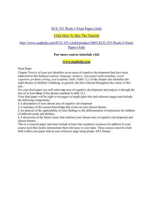ECE 353 Week 5 Final Paper