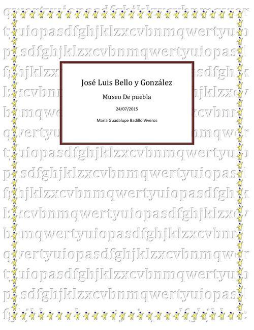 Museo José Luis Bello y Gonzales libro editado