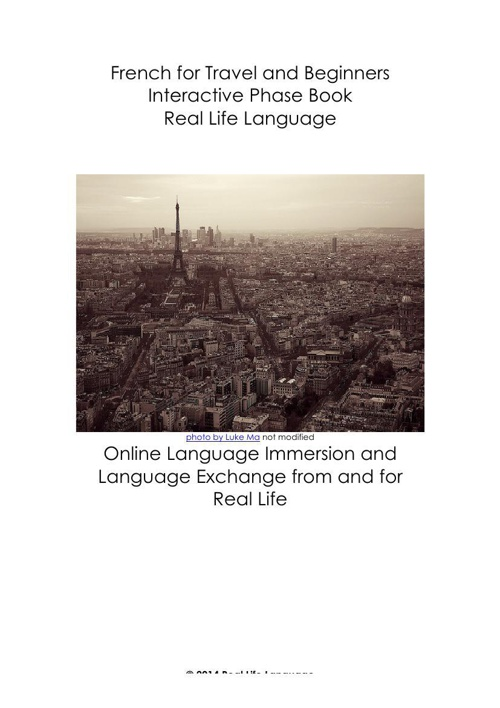 French for Travel and Beginners Interactive Phrase Book