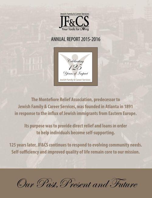 JF&CS Annual Report 2015-2016
