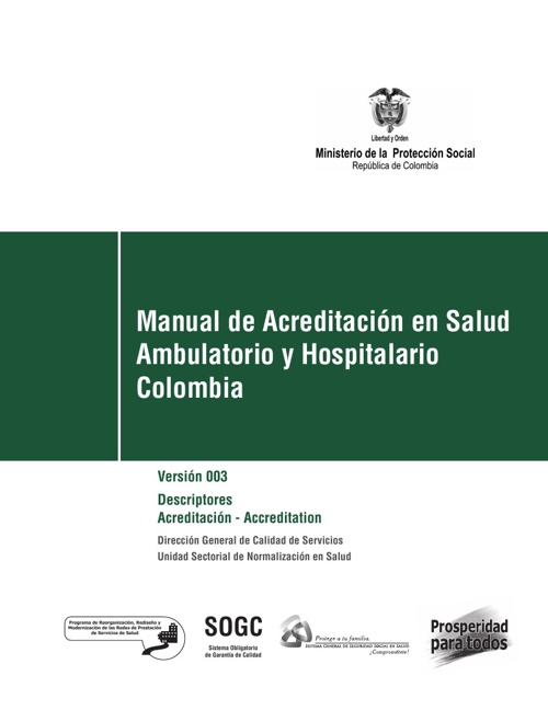 MANUAL DE ACREDITACIÓN EN SALUD AMBULATORIO Y HOSPITALARIO