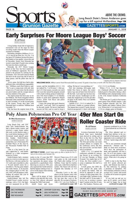 Gazette Sports 1-11-18