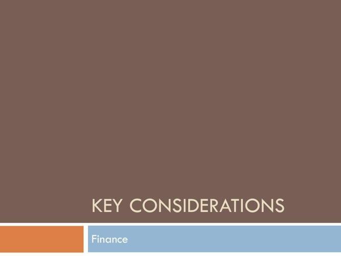 Part 7 - finance