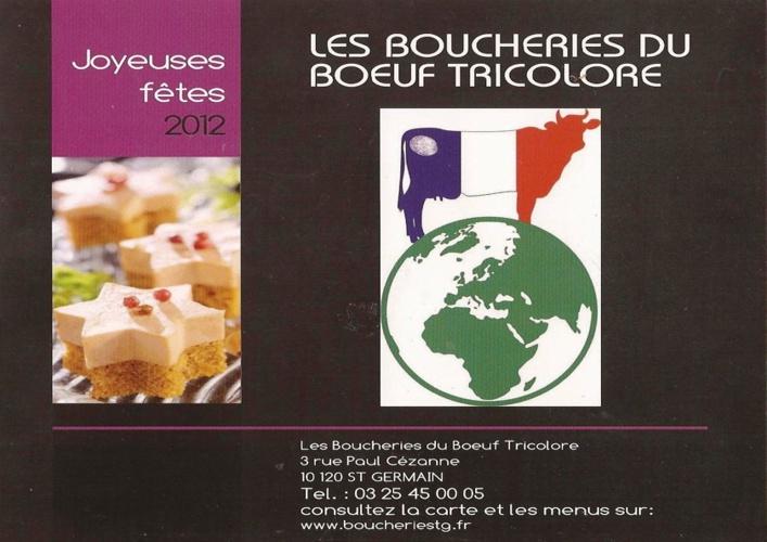 Joyeuses fêtes 2012 Les boucheries du boeuf tricolore