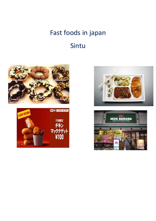 fast foods in japan