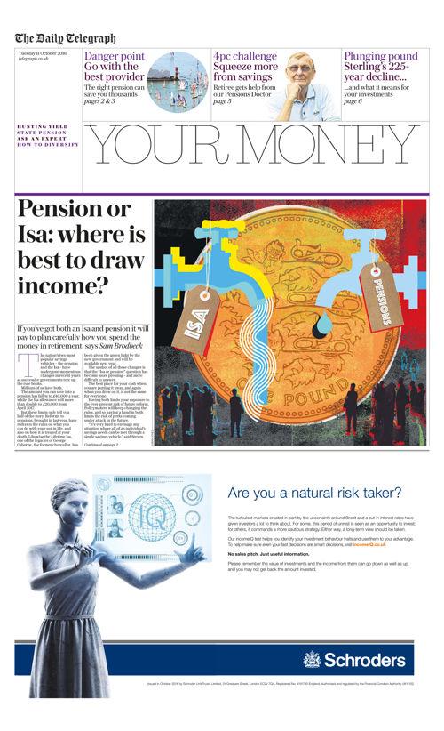 Telegraph Your Money 11/10/16