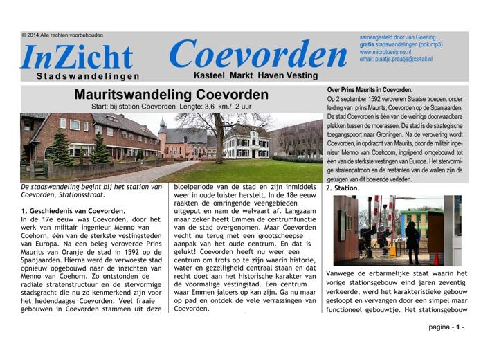Stadswandeling Coevorden (NL)